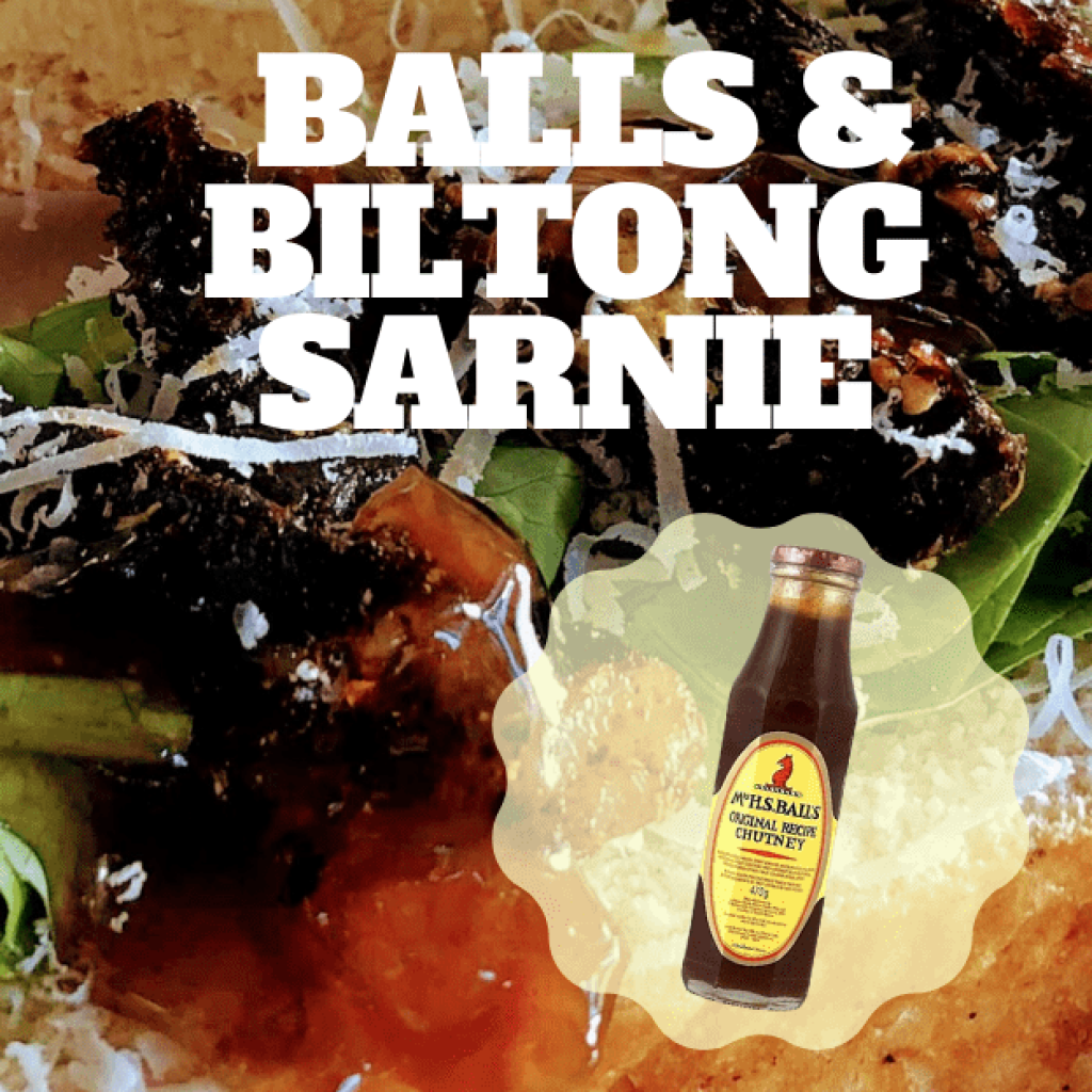Balls and Biltong sandwich recipe, the ultimate lunch!